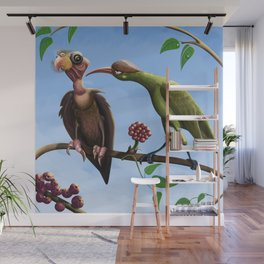 Whimsical  birds Wall Mural