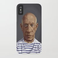 pablo picasso iPhone & iPod Cases featuring Celebrity Sunday ~ Pablo Picasso by rob art | illustration