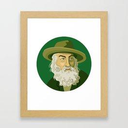 Queer Portrait - Walt Whitman Framed Art Print