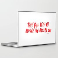 inner demons Laptop & iPad Skins featuring Demons by WRDBNR