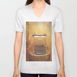Remington Typewriter  Unisex V-Neck