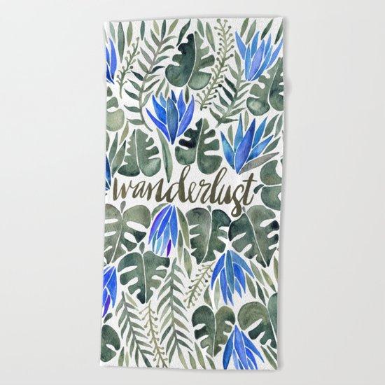 Tropical Wanderlust – Periwinkle Beach Towel
