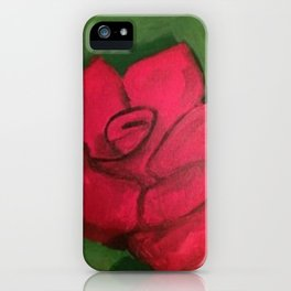 Green And Rose iPhone Case