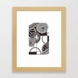 Les Cercles Framed Art Print