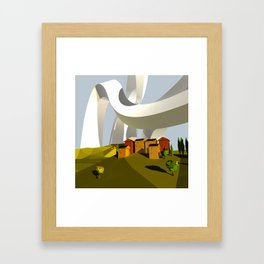 They Swooped Over The Houses Framed Art Print