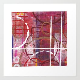 Lines, Circles And Squares, OH MY! 1 Bottom Square Art Print