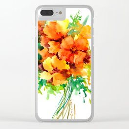 Californian Poippies Clear iPhone Case