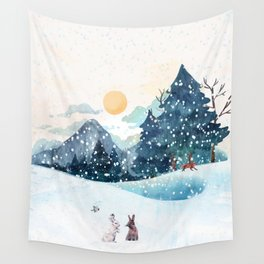 Happy Litlle Wildlife Wall Tapestry