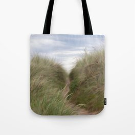 sand beach dunes pathway Tote Bag