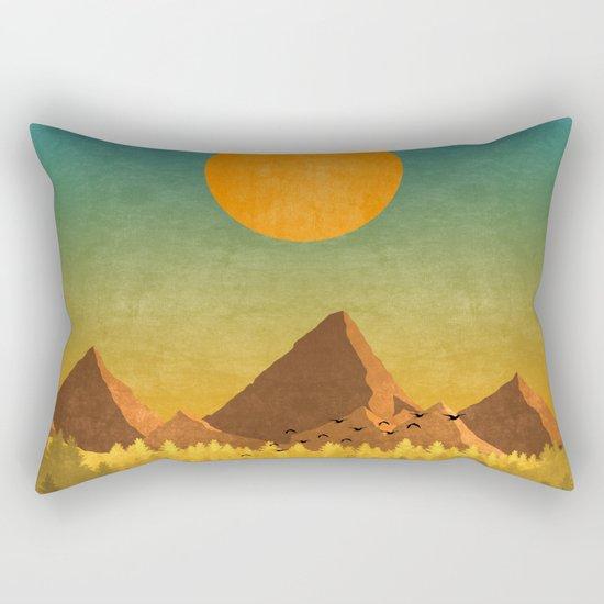Deer road trip Rectangular Pillow