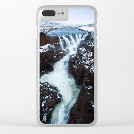 Waterfall in Iceland Print (RR 267) Clear iPhone Case