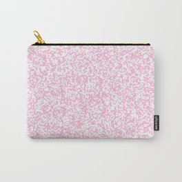Tiny Spots - White and Cotton Candy Pink Carry-All Pouch