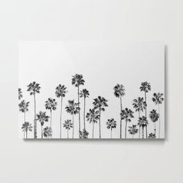 Black And White Palms 2 Metal Print