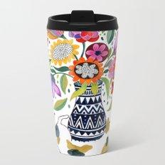 Calico Bouquet Metal Travel Mug