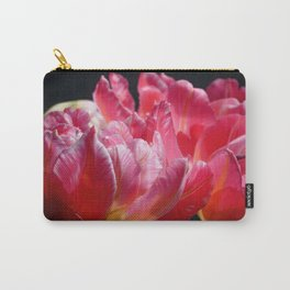 Pink Parrot Tulips close up VI Carry-All Pouch