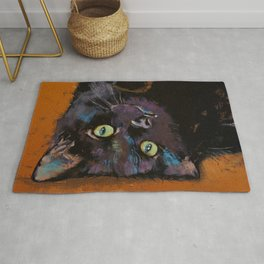 Upside Down Kitten Rug