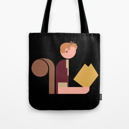 Squirrel Lady Reads Tote Bag