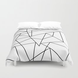 Simple Modern Black and White Geometric Pattern Duvet Cover