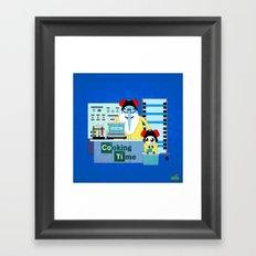Icekingberg (AdventureTime+BreakingBad) Framed Art Print