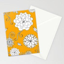 Sunny Crazy Daisy pattern Stationery Cards