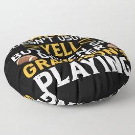 American Football Grandma Grandson Gift Idea Floor Pillow