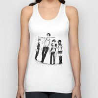 levi Tank Tops featuring Squad Levi by PaigeAWArt