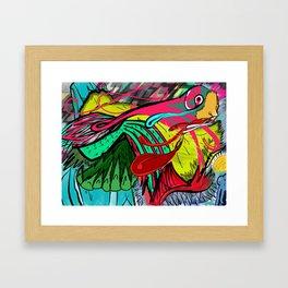 Birds high view Framed Art Print