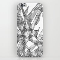 blueprint iPhone & iPod Skins featuring Blueprint - monochrome by Etch by Design
