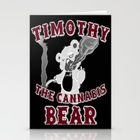 cannabis Stationery Cards featuring TIMOTHY THE CANNABIS BEAR  by Timmy Ghee CBP