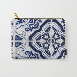 blue tile pattern VII - Azulejos, Portuguese tiles Carry-All Pouch
