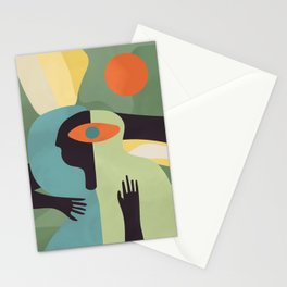 Open your mind #art print#abstract Stationery Cards