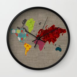 Simi's Map of the World Wall Clock