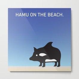 Hamu on the Beach. Metal Print