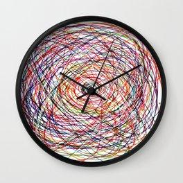Doodling Lines Wall Clock