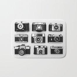 Vintage cameras Bath Mat