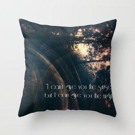 A Sunset Moment Throw Pillow