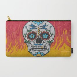 DAY OF THE DEAD - FLAMING RED VOODOO Carry-All Pouch