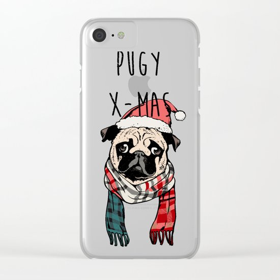Pugy X-Mas Clear iPhone Case