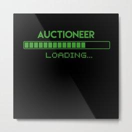 Auctioneer Loading Metal Print