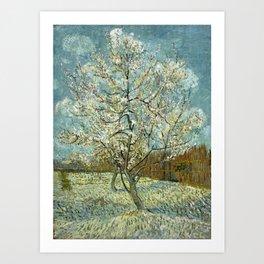 The Pink Peach Tree, by Vincent van Gogh Art Print