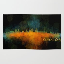 Kansas City Skyline UHq v4 Rug