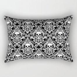 Skull Damask Rectangular Pillow