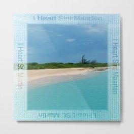 I Heart Sint Maarten - St. Martin Metal Print
