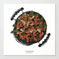 pasta Canvas Prints featuring Pasta! by Giulia Orissa