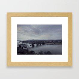 Arkansas River Bridge Framed Art Print