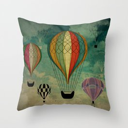 1er vuelo Aerostático en España Throw Pillow
