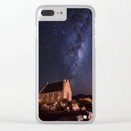 Lake Tekapo, New Zealand Night Sky Clear iPhone Case