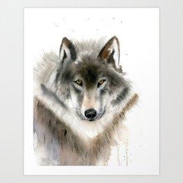 Wolf portrait Art Print
