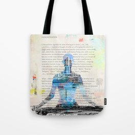 Yoga Book. Lesson 1 Concentration - painting - art print  Tote Bag