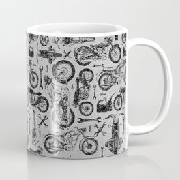 Vintage Motorcycle Pattern Coffee Mug